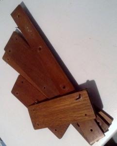 wooden slats